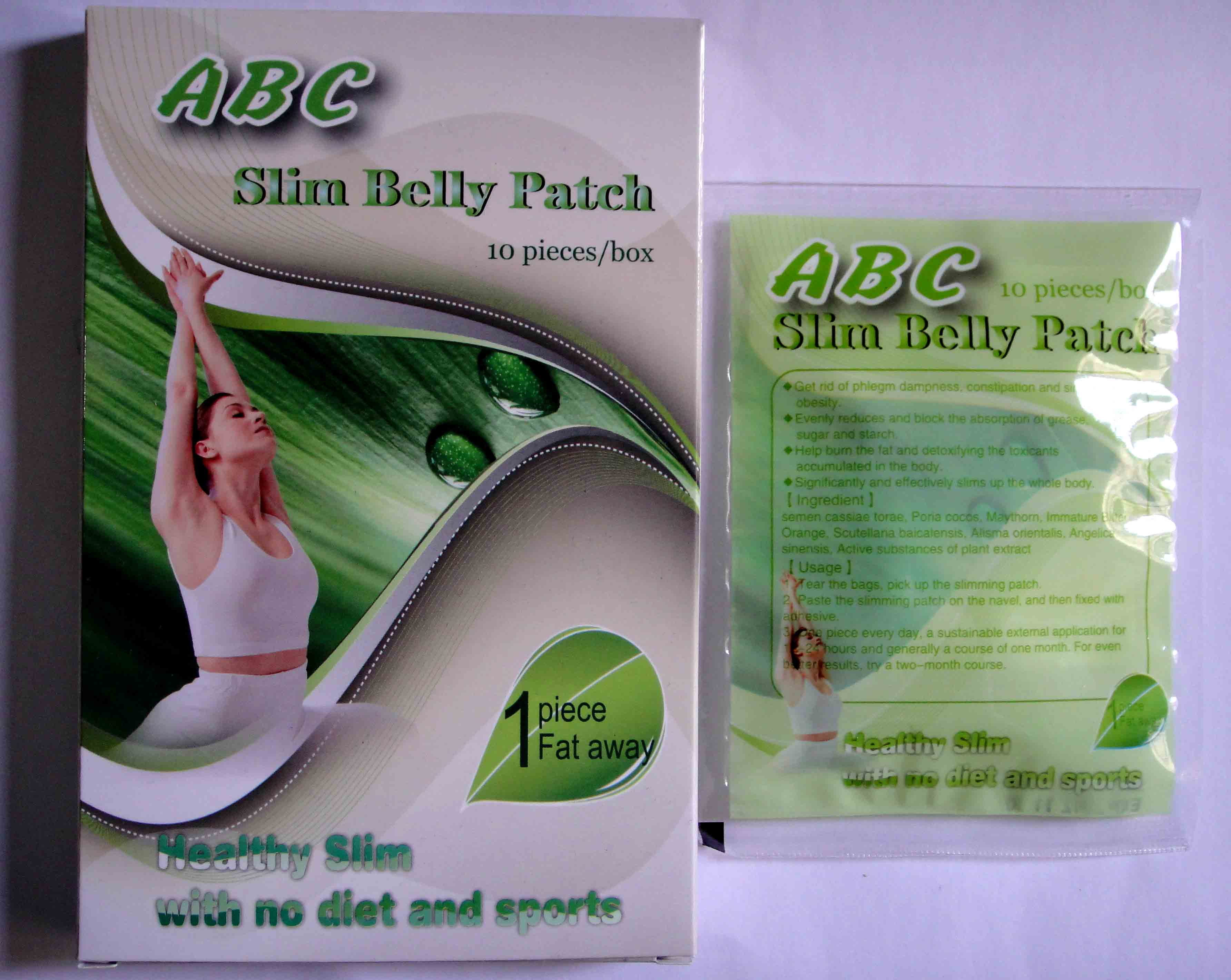 Abc Slim Belly Patch 5 Pieces Per Box Meizitang Slimming Tea