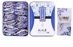 Chinese Anxi Tieguanyin Oolong Tea Premium with Blue and White Gift Box 10pcs/ Box