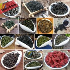 15 Different Flavours Chinese Tea Oolong/Green/Black/Tieguanyin/Dahongpao/Jasmine Dragon Pearls/Goji Berries Tea 15 Bags