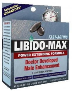 Libido Max Male Enhancement Formula 30 soft-gels