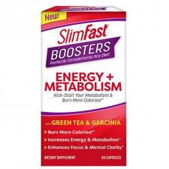SlimFast Boosters Energy and Metabolism 30 Capsules
