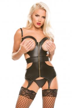 Allure Peep Show Open Cut Corset