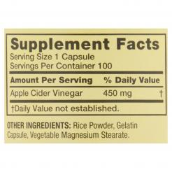 Spring Valley Apple Cider Vinegar Capsules 450 mg 100 count