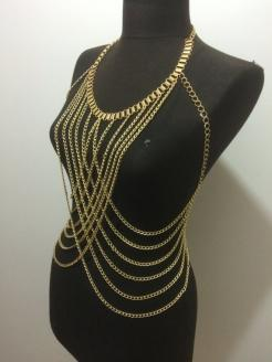 Multi Layered Body Chain Necklace