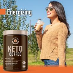 Rapid Fire Original Keto Instant Coffee Mix  Canister