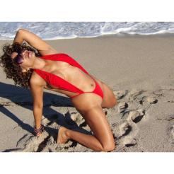 Sexy Red Micro Slingshot Bikini